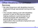 office vocational rehabilitation services
