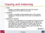 copying and instancing