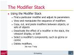 the modifier stack