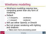 wireframe modelling