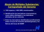 abuso de m ltiples substancias cartografiado del genoma