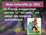 note culturelle p 264