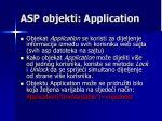 asp objekti application