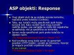 asp objekti response