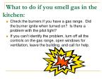 what to do if you smell gas in the kitchen