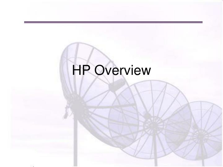 hp overview n.