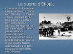 la guerra d etiopia