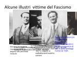 alcune illustri vittime del fascismo