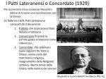 i patti lateranensi o concordato 1929