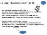le leggi fascistissime 1926