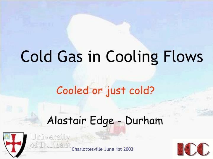 cold gas in cooling flows n.