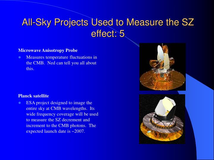 All-Sky Projects Used to Measure the SZ effect: 5