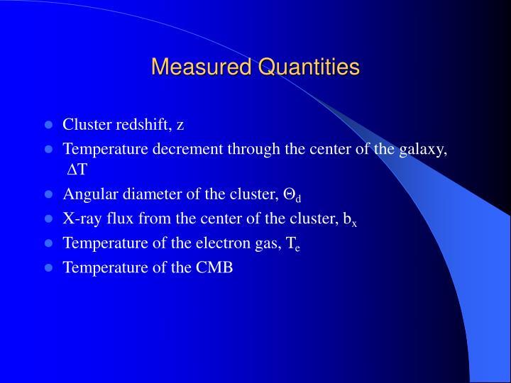 Measured Quantities