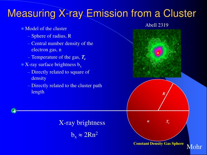Measuring X-ray Emission from a Cluster