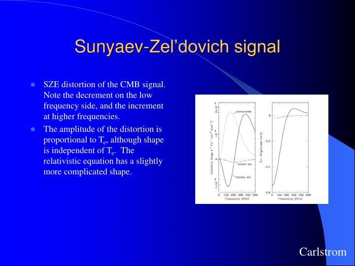 Sunyaev-Zel'dovich signal