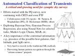 automated classification of transients