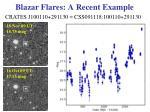 blazar flares a recent example