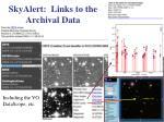 skyalert links to the archival data