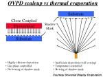 ovpd scaleup vs thermal evaporation