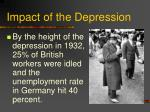 impact of the depression