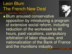 leon blum the french new deal