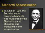 matteotti assassination