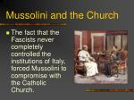 mussolini and the church
