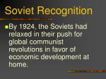 soviet recognition