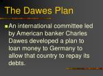 the dawes plan