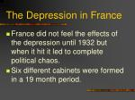 the depression in france