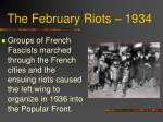 the february riots 1934