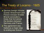 the treaty of locarno 1925