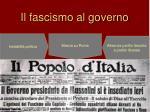 il fascismo al governo