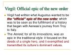 virgil official epic of the new order