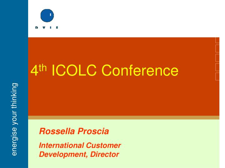 4 th icolc conference n.