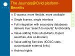 the journals@ovid platform benefits