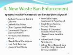 4 new waste ban enforcement