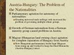 austria hungary the problem of the nationalities