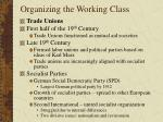 organizing the working class