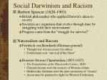social darwinism and racism