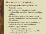 the attack on christianity