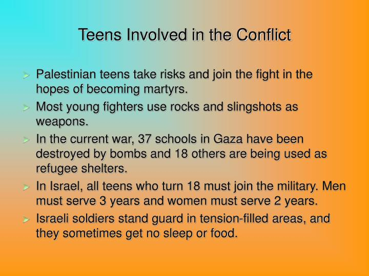 Teens Involved in the Conflict