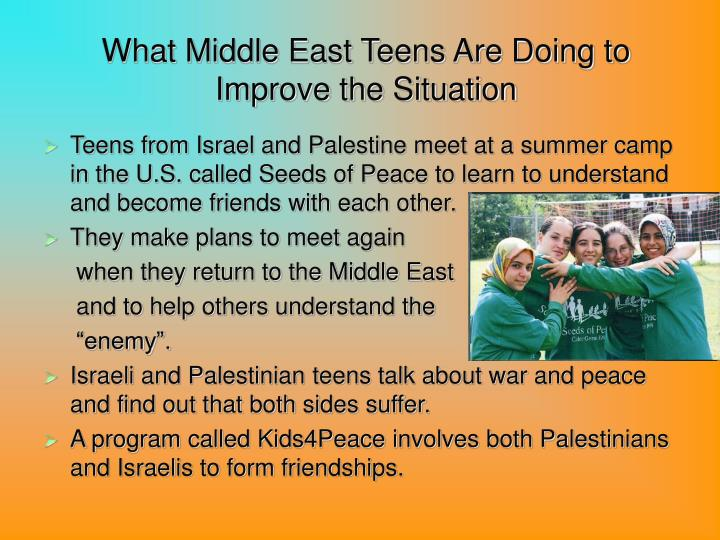 What Middle East Teens Are Doing to Improve the Situation