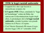 1938 le leggi razziali antisemite