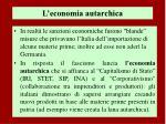 l economia autarchica