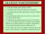 le leggi fascistissime1