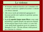 le violenze