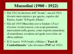 mussolini 1900 19221