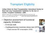 transplant eligibility