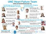 unc heart failure team